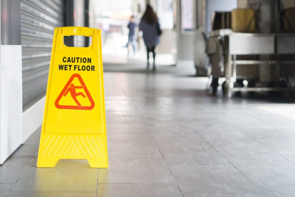 Slip and Fall Law - Caution Cone